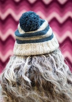 Sophie Hat - Free Beginner Hat Pattern from Loop, London. You can either work it flat or in the round. Love!