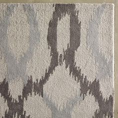 Ikat Links Wool Rug - Frost Gray