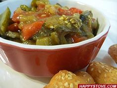 Ratatouille recipe. A mix of bell peppers, eggplants, zucchini for a tasteful and colorful traditional French recipe. Ratatouille is great both cold and warm as side dish or as main meal.