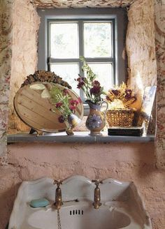 Country bath - love the sink