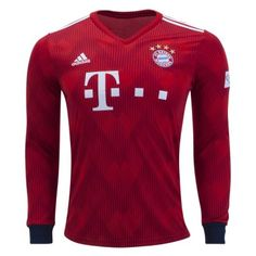 1819 Bayern Munich Home Long Sleeve Soccer Jersey 181c4a552bb