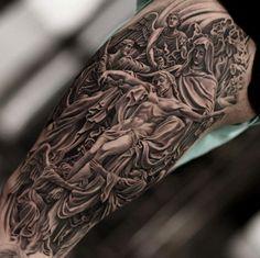 Heavenly tattoo design by Jun Cha