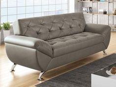 Sofá 3 Lugares Revestimento Suede Larissa Style - Linoforte - Clique na figura do produto e compre conosco.