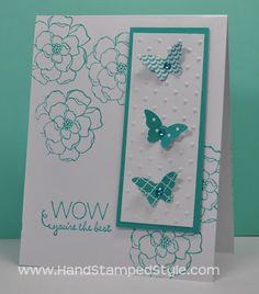 Stampin' Up! Friendly Phrases Secret Garden Itty Bitty Butterfly card featured by Hand Stamped Style created by Dianne M., THANKS for checking out my PIN to get more info visit my BLOG and FACEBOOK PAGE http://www.facebook.com/handstampedstyle