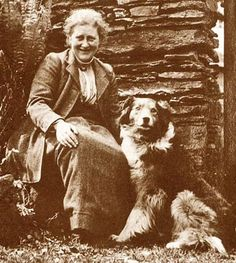 Beatrix Potter and a prototype English shepherd.I want the same kind of dog Beatrix Potter had. Old Photos, Vintage Photos, Victorian Photos, Beatrix Potter Illustrations, English Shepherd, Australian Shepherd, Beatrice Potter, Peter Rabbit And Friends, Illustrator