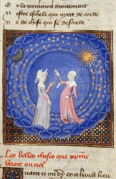 Queen's Book, fol. 189v. Two women. BL MS Harley 4431, The Book of the Queen, Selected Works of Christine de Pizan, 1410-1414AD.
