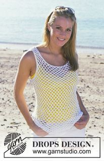 DROPS 82-6 - DROPS Crocheted Top and Cardigan in Muskat - Free pattern by DROPS Design