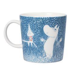 Moomin Winter mug 2018 – Light Snowfall - The Official Moomin Shop Moomin Shop, Moomin Mugs, Moomin Valley, Tove Jansson, Nordic Design, The Book, Original Artwork, Drawings, Winter Blue