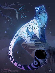 dragibuz:Snow Leopard Style ~ #ShareArt - https://wp.me/p6qjkV-mCk #Art