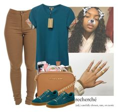 """""""Goodnight"""" by wavyjai on Polyvore featuring Burberry, Too Faced Cosmetics, Belkin, Michael Kors and Puma"""