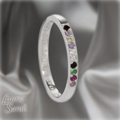 Sterling Silver Mothers Ring or Grandmothers by LaurieSarahDesigns, $127.50
