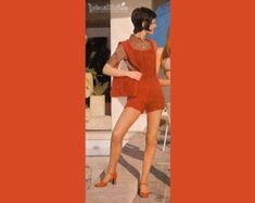 Image result for vintage womens knitted playsuits