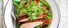 Stir-fried snow peas with Chinese chicken - Mindfood
