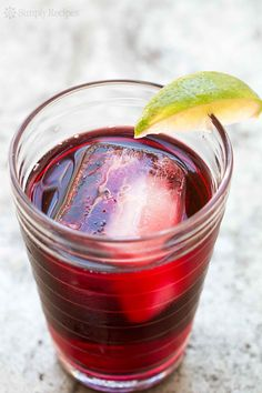 Agua de Jamaica (aka Hibiscus tea) is an infusion of dried hibiscus flowers. Popular at Mexican taquerias, this agua fresca is loaded with Vitamin C and can even lower blood pressure! #healthy On SimplyRecipes.com