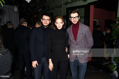 Model Anastasia Kolganova (C) and guests attend The Daily Front Row's celebration of the 10th Anniversary of CBS Watch! Magazine at the Gramercy Terrace at The Gramercy Park Hotel on February 9, 2016 in New York City.