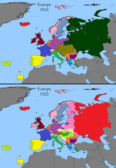 European Territorial Changes after WWI