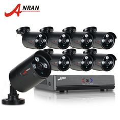 336.88$  Watch now - http://ali4qw.worldwells.pw/go.php?t=32708500049 - ANRAN 8CH Security Camera System AHD 1080N HDMI DVR 720P 1800TVL IR Outdoor Camera Home Video Surveillance Kits Email Alert