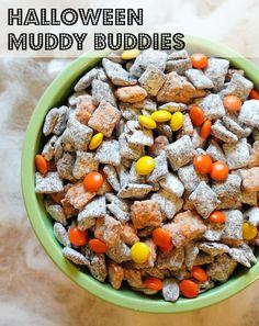 Halloween Muddy Buddies - Halloween Puppy Chow