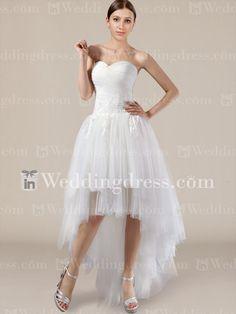 Wedding Dress Trend High Low Hemlines