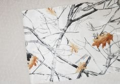 White Camouflage Table Runner  White Camo Table by IDoDoodads, $12.99