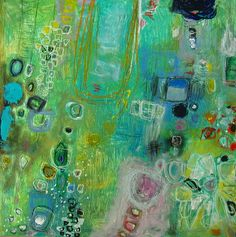 garden abstract by M.A.Wakely - beautiful; love these greens - reminds me of spring!