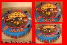brandweerman sam taart decoratie - Google zoeken