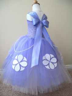 Sofia is an adorable little girl who became a princess overnight. This intricate ankle length costume has been designed to look just like