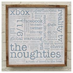 'The Noughties' handmade solid oak print