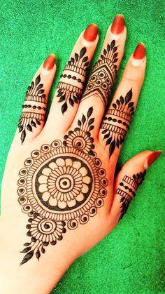 Henna Designs For Kids, Simple Mehndi Designs, Bridal Mehndi Designs, Henna Finger Tattoo, Finger Tattoos, Easy Henna, Simple Henna, Mehndi Art, Henna Mehndi