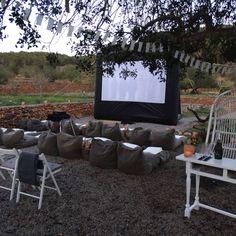 Outdoor cinema at B&B Casa Volar Ibiza