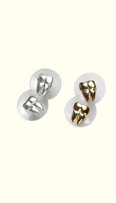 TOOTH EARRINGS!!! ahhhh  Dental Jewelry: Gold or Silver Tooth Earrings