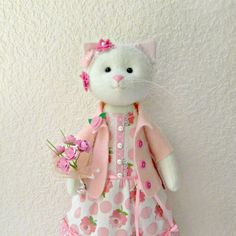 Cat-stuffed toy Cat Handmade Doll Cat Cat doll cloth doll