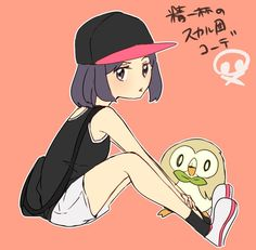 Moon and Rowlet