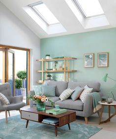 72 blue living room scandinavian paint color ideas why a blue living room can feel so good 16 - coodecors Living Room Color Schemes, Paint Colors For Living Room, Living Room Designs, Paintings For Living Room, Coastal Paint Colors, Wall Painting Living Room, Room Paint Colors, Living Room Green, Home Living Room