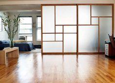 Sliding Door Room Dividers, Room Divider Doors, Room Doors, Sliding Wall, Closet Doors, Divider Cabinet, Space Dividers, Wall Dividers, Bedroom Divider