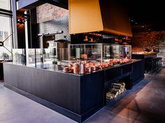 Restaurant Bar, Restaurant Design, Open Kitchens, Parking Design, Food Service, Service Design, Store, Home Decor, Interiors