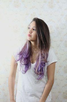 LIVEANDSTUFF: Nuevo look! Purple Ombre Hair