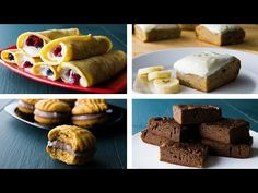 4 Healthy Dessert Ideas For Weight Loss Snack Recipes video recipe Easy High Protein Meals, Healthy Low Calorie Meals, No Calorie Foods, High Protein Recipes, Low Calorie Recipes, Diet Recipes, Healthy Banana Cakes, Quick Healthy Desserts, Healthy Cookies