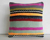 boho kilim pillow bohemian throw pillow cover tribal decorative pillow case sham turkish cushion cover ethnic pillowcase pink green decor