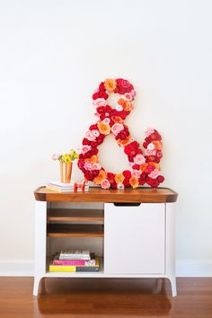 how to make a giant fresh flower ampersand with @Flower Muse