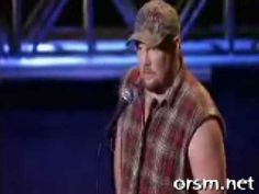 Larry the cable guy. It's offensive but I laugh then I'm ashamed but I listen again and laugh... what a vicious circle.