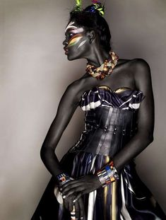 Ebony Tribaltography Connecting to her roots. Absolutely beautiful.