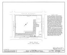 plan of Mission San Luis Obispo de Tolosa (from the Library of Congress Historic American Buildings collection) Mission Projects, Library Of Congress, San Luis Obispo, Buildings, Floor Plans, How To Plan, American, Collection