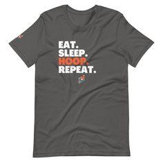 HoopLeague Eat Sleep Short-Sleeve T-Shirt - Asphalt / 3XL