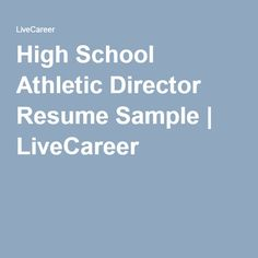 This Is A  Part Guide To Becoming An Athletic Director Written By