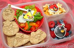 Angry Birds Kids Bento School Lunch - Healthy Ideas From GlorysMischief.com