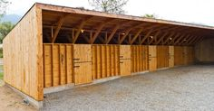 "Modern horse stable - inspiration for a back yard ""motorcycle stable"""