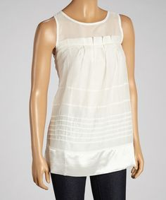 Another great find on #zulily! White Keyhole Tank #zulilyfinds