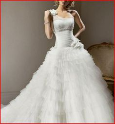 YZ A-line Sweetheart One Shoulder Chapel Train Sleeveless Wedding Dresse · YZ Fashion Bridal · Online Store Powered by Storenvy