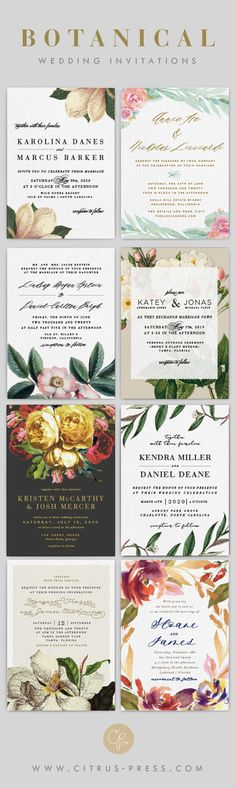 Beautiful Botanical Invitations by Citrus Press Co. Destination Wedding Invitations, Unique Wedding Invitations, Wedding Rsvp, Wedding Stationary, Wedding Bride, Wedding Events, Wedding Planning, Dream Wedding, Wedding Dreams
